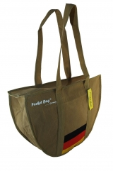 Casual Sport Bag with full length zipper & internal pocket printed with German flag