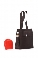 Foldable with 2 front pockets, 2 side pockets + pen holder, great for frequent traveller