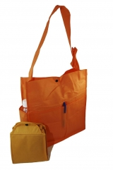 Unisex Foldable with 2 front, 2 side pockets + Pen Holder available Sling & Shoulder carry